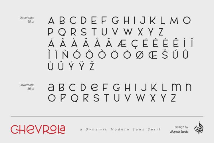 Chevrola Modern Sans Serif
