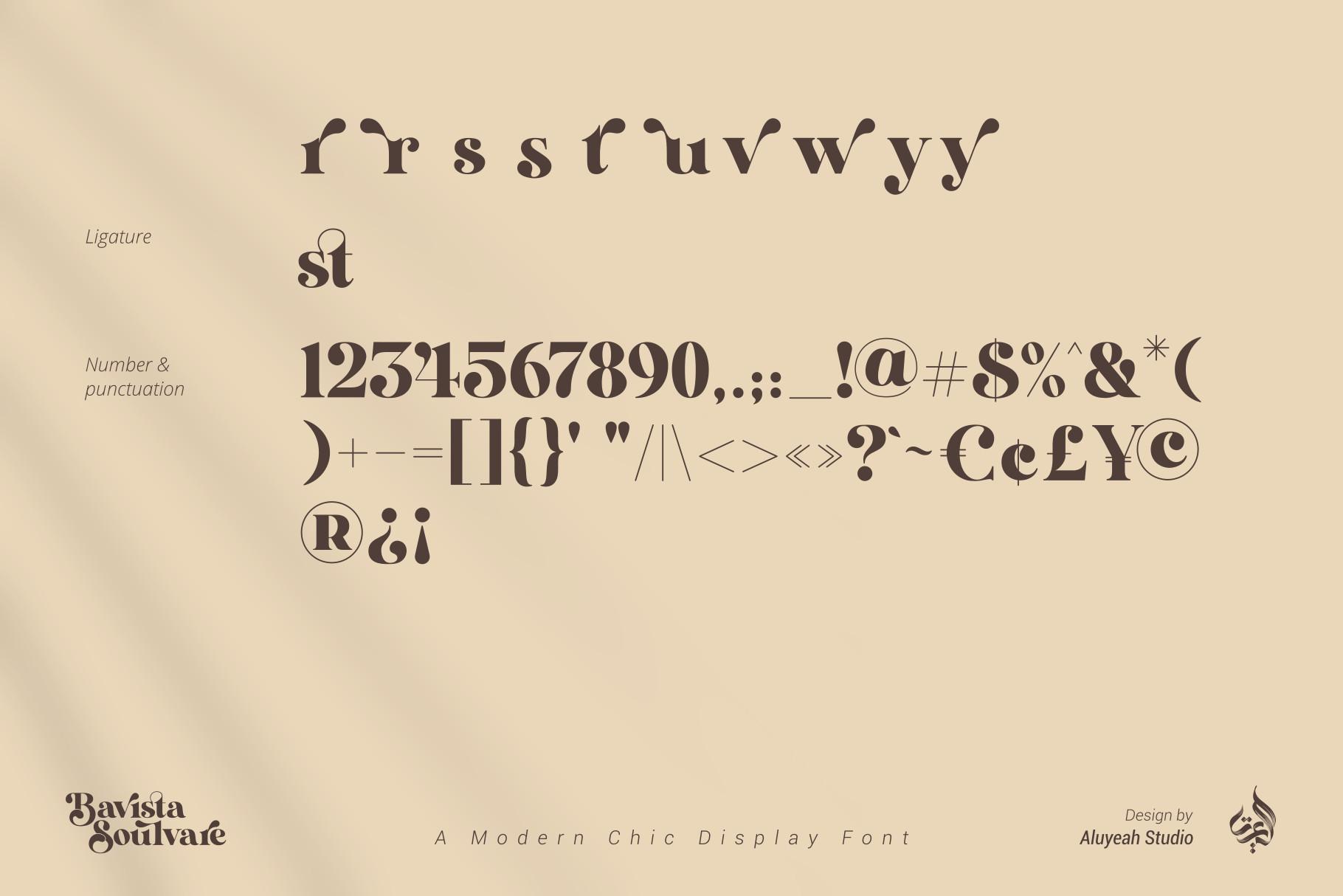 Bavista Soulvare modern display font