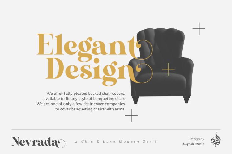 Nevrada Display Font Preview