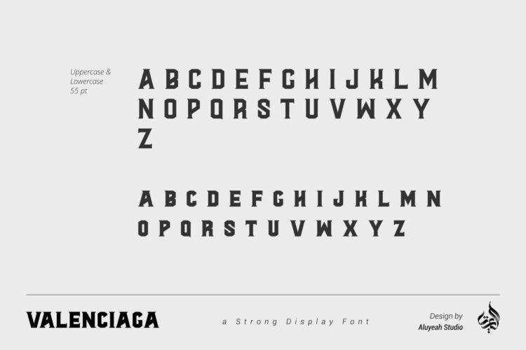 Valenciaga Strong Font