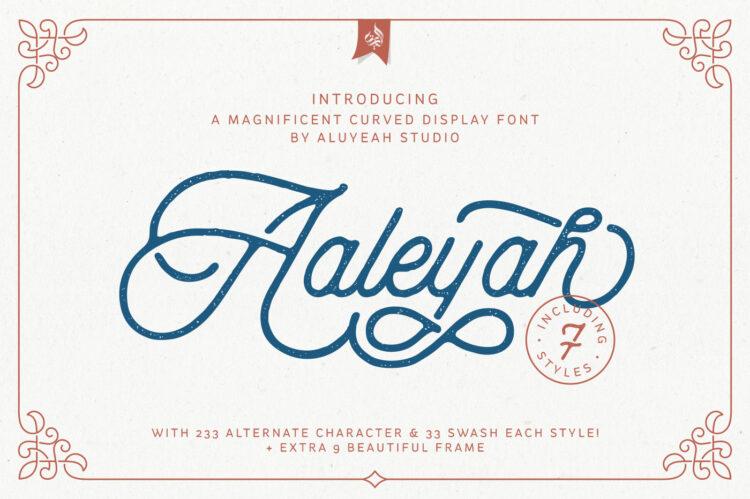 Aalyeah Vintage Monoline Font