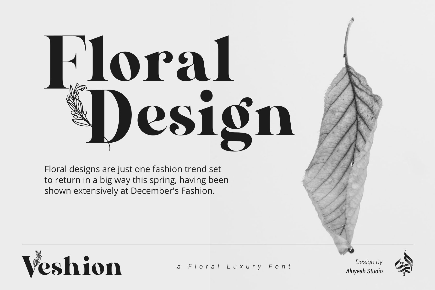 Veshion Floral Font