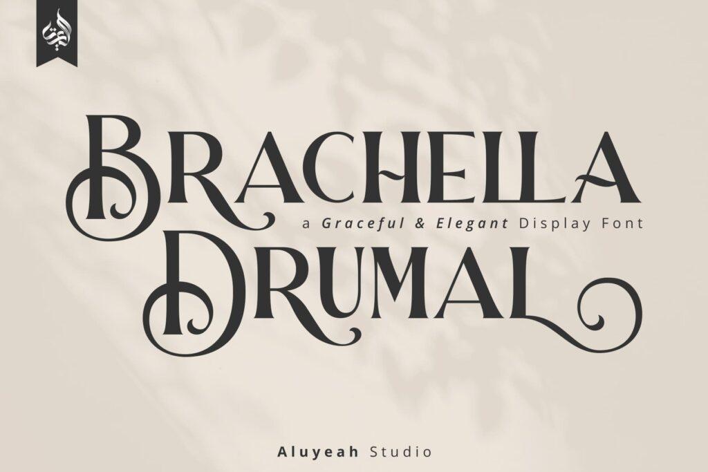Brachella Drumal a Graceful and Elegant Display Font